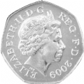 2009 Blue Peter Olympic 50p